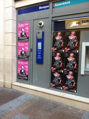 Affiches au festival d'Avignon 2015 pour les spectacles George Sand, Passion Simple